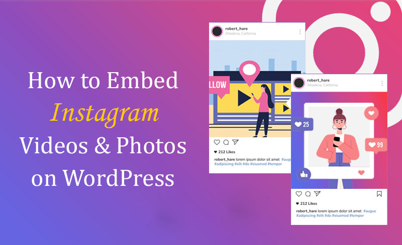 how to embed instagram video on wordpress